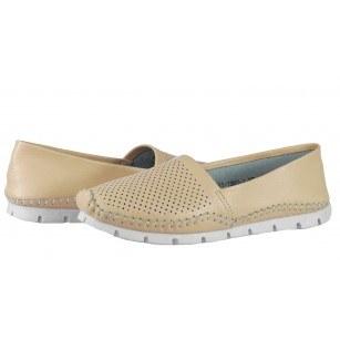 Дамски обувки от естествена кожа BE ME бежови