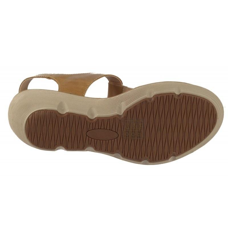 Дамски сандали на платформа естествена кожа BE ME черни