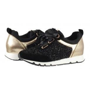 Дамски спортни обувки от естествена кожа BE ME черни