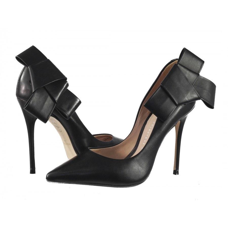 e98a0ace64e Елегантни дамски обувки от естествена кожа на висок ток Bronx черни