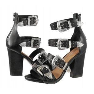 Дамски сандали на ток Bronx естествена кожа