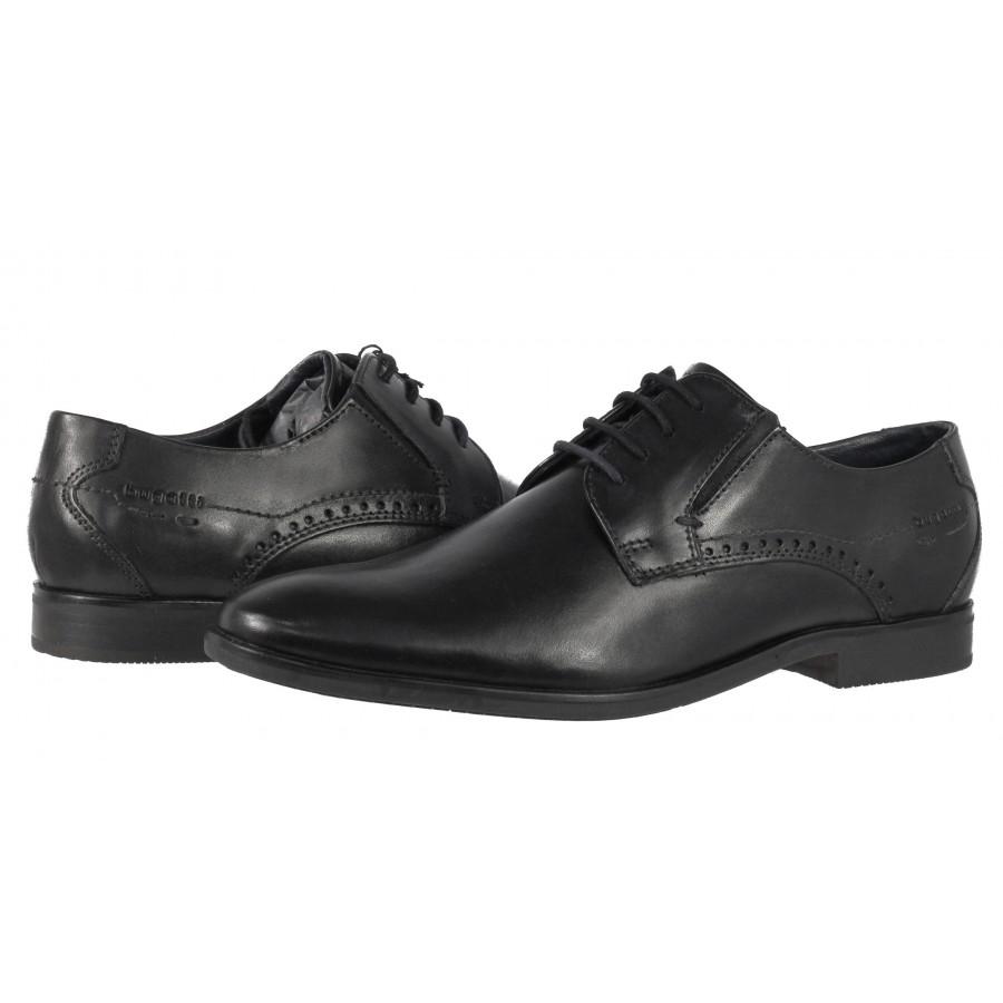 Мъжки кожени обувки с връзки Bugatti®  Savio черни
