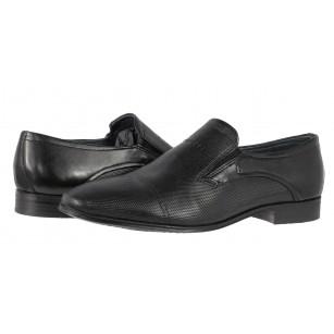 Мъжки кожени обувки без връзки Bugatti® Mattio черни