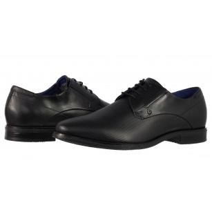 Мъжки кожени обувки с връзки Bugatti® Nicolo Exko черни