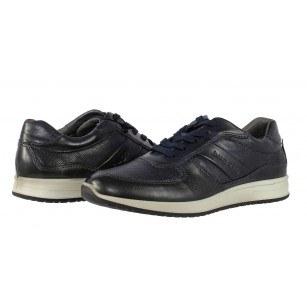 Спортно-елегантни мъжки обувки от естествена кожа Bugatti® сини Jacomo