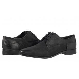 Мъжки елегантни обувки от естествена кожа Bugatti® черни