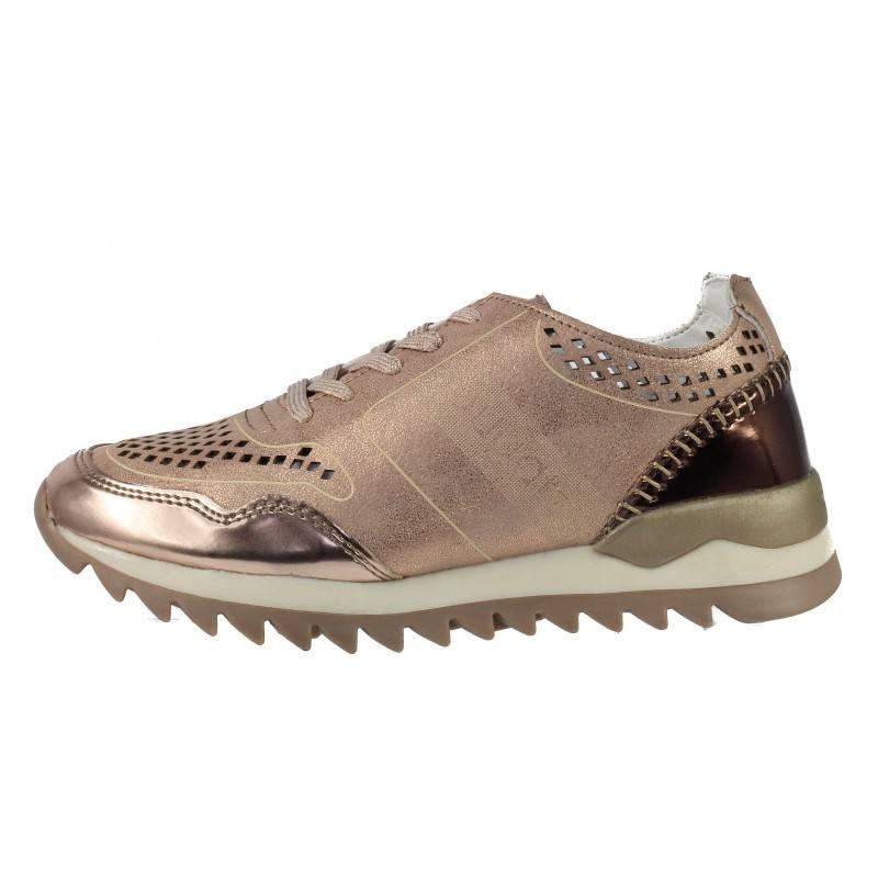 Дамски спортни обувки Bugatti Farah розов металик мемори пяна
