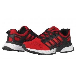 Спортни маратонки  с връзки Bulldozer Red/Black