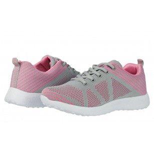 Дамски маратонки с връзки Bulldozer розови