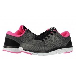 Дамски маратонки Bulldozer сиви/розови