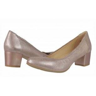 Дамски обувки на ток Caprice розови металик