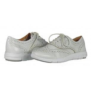 Дамски спортни обувки от естествена кожа Caprice On AIR бели