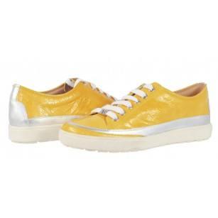 Дамски спортни обувки от естествена кожа Caprice жълти