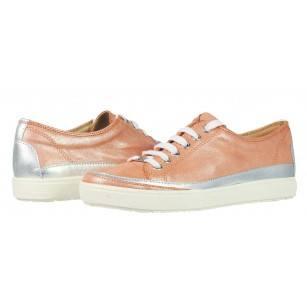 Дамски спортни обувки от естествена кожа Caprice розови металик