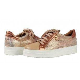 Дамски спортни обувки от естествена кожа Caprice розови