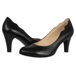 Дамски елегантни обувки на ток Caprice черни естествена кожа