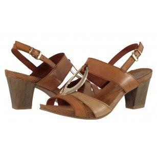 Елегантни дамски сандали от естествена кожа на ток Caprice