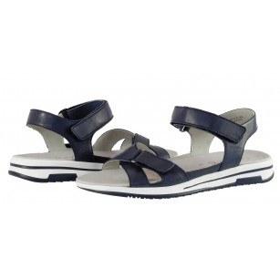 Дамски анатомични сандали от естествена кожа Caprice сини