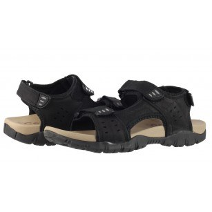Мъжки анатомични сандали от естествена кожа Cervo Defcon I черни