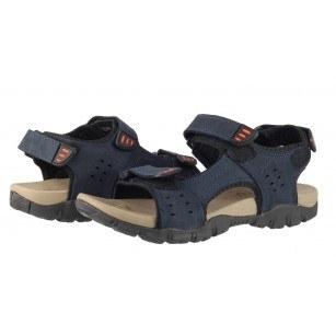 Мъжки анатомични сандали от естествена кожа Cervo Defcon I сини