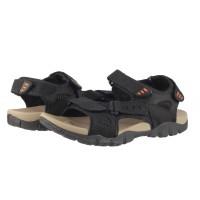 Мъжки анатомични сандали от естествена кожа Cervo Defcon II черни