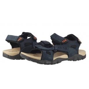 Мъжки анатомични сандали от естествена кожа Cervo Defcon II сини