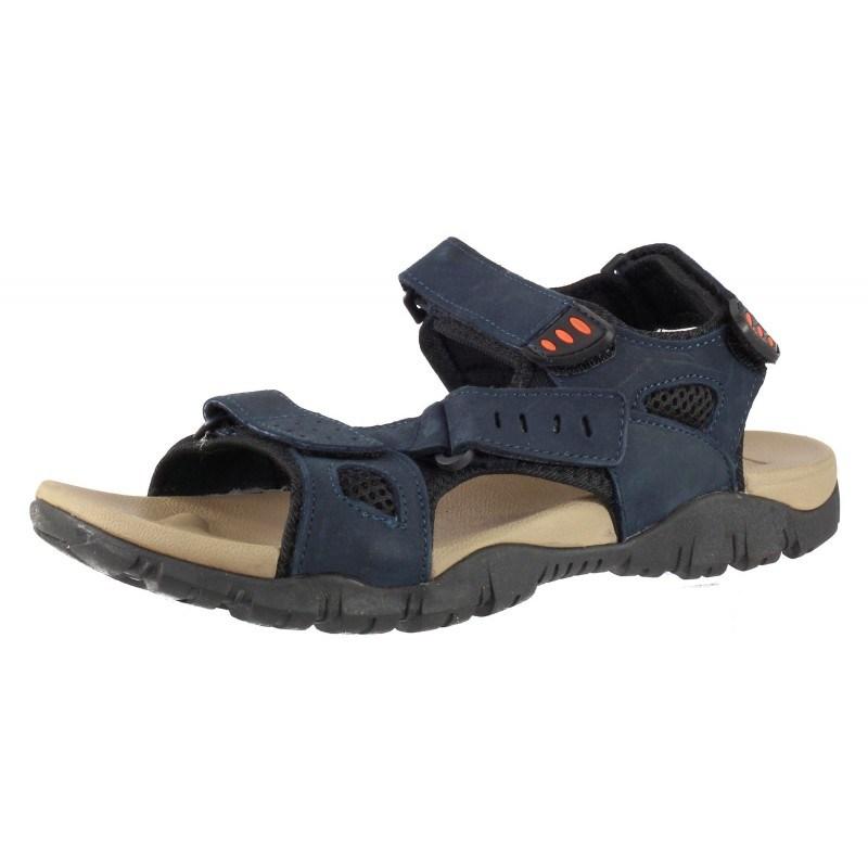 Мъжки анатомични сандали от естествена кожа Cervo сини