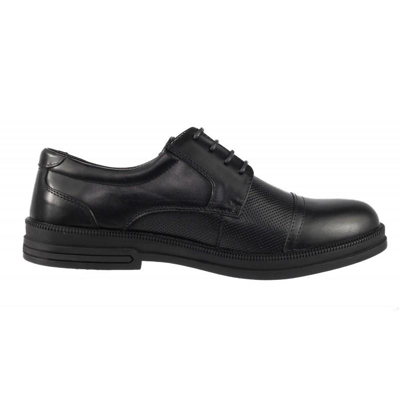 Мъжки обувки от естествена кожа Cervo Serenity черни