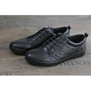 Мъжки обувки от естествена кожа Cervo Carpe Diem черни