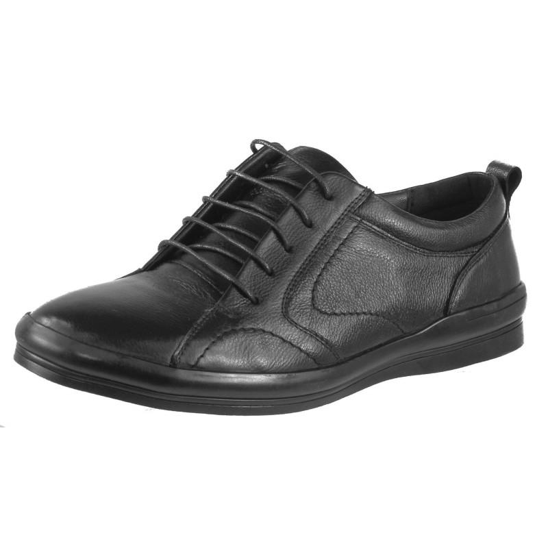 Мъжки обувки от естествена кожа Cervo черни