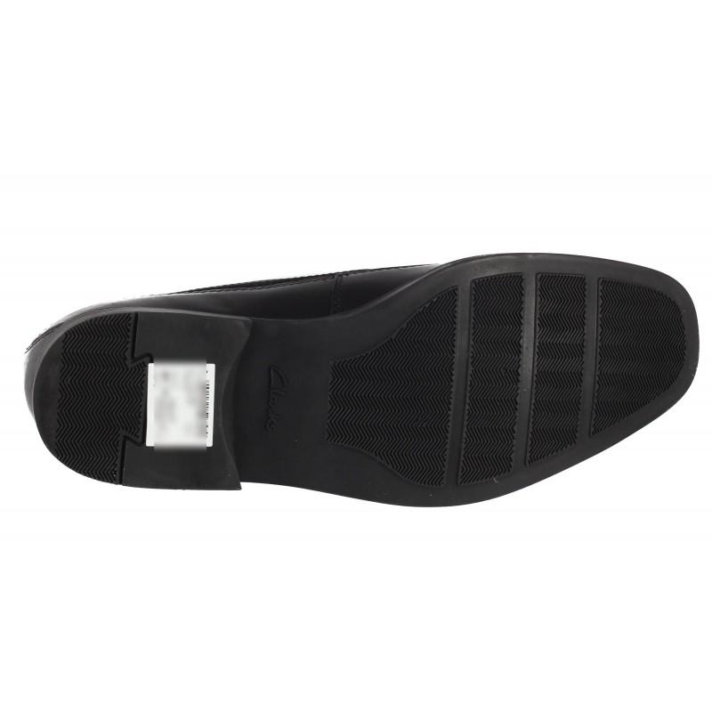Мъжки обувки от естествена кожа без връзки Clarks Tilden Free черни