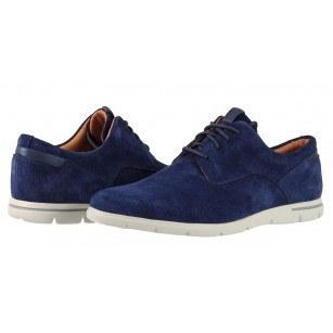 Мъжки кожени обувки с връзки Clarks Vennor Walk сини