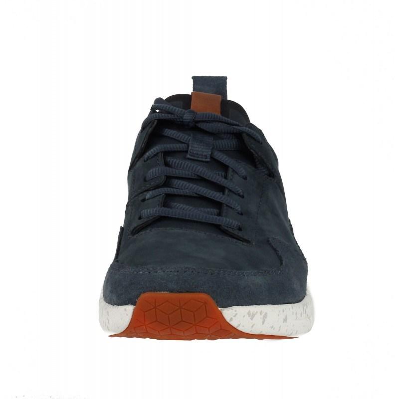 Мъжки спортни обувки от естествена кожа Clarks Tri Active Run сини Trigenic