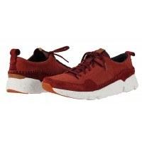 Мъжки спортни обувки от естествена кожа Clarks Tri Active Run червени Trigenic