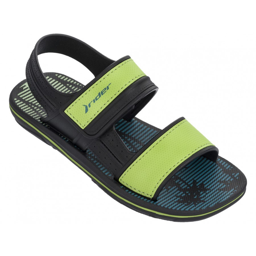 Детски сандали RIDER SANDAL KIDS черни/зелени 27-38