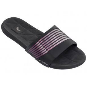 Дамски анатомични чехли Rider PRANA FEM черни/лилави