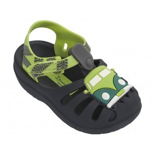 Бебешки сандали Ipanema SUMMER IV BABY черни/зелени