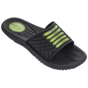 Мъжки анатомични чехли Rider MONTANA VII AD черни/зелени