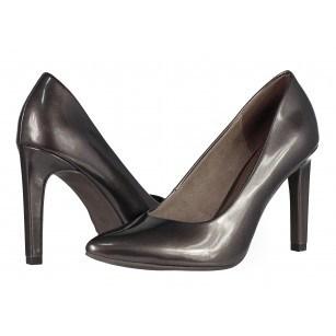 Дамски обувки на висок ток Marco Tozzi сиви/металик