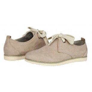Дамски равни обувки от естествена кожа Marco Tozzi бежови
