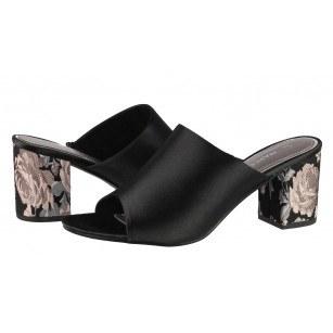 Елегантни дамски чехли на ток Marco Tozzi черен