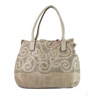 Дамска чанта голяма Marina Galanti® Firenze бежова