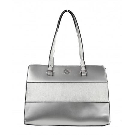 Дамска средна чанта Marina Galanti® Firenze сребриста