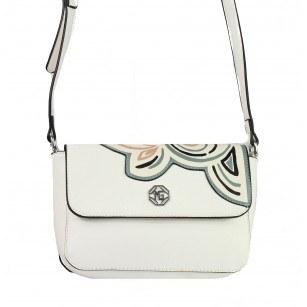Дамска малка чанта през тяло Marina Galanti® Firenze бяла