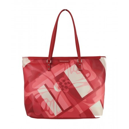 Дамска чанта принт Marina Galanti® Firenze червена