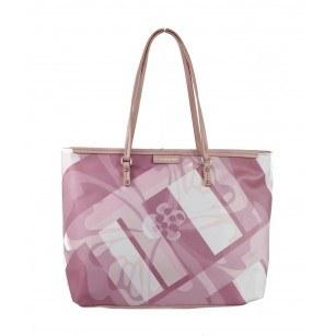 Дамска чанта принт Marina Galanti® Firenze светло розова