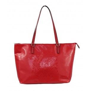 Дамска чанта Marina Galanti® Firenze червена принт