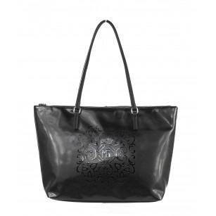 Дамска чанта Marina Galanti® Firenze черна принт