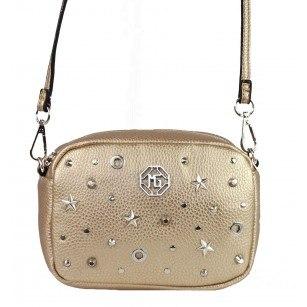 Дамска малка чанта през тяло Marina Galanti® Firenze златиста