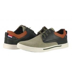 Мъжки ежедневни обувки с връзки Otas зелени